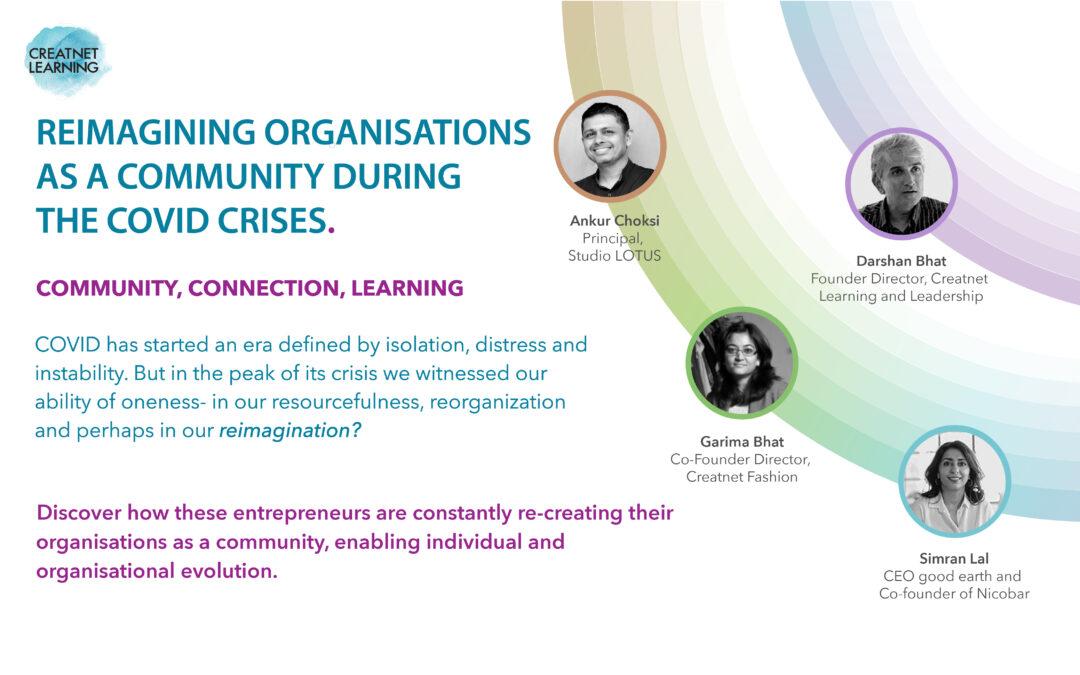 Reimagining Organisations as Communities – Through Learning, Leadership & Self-Awareness